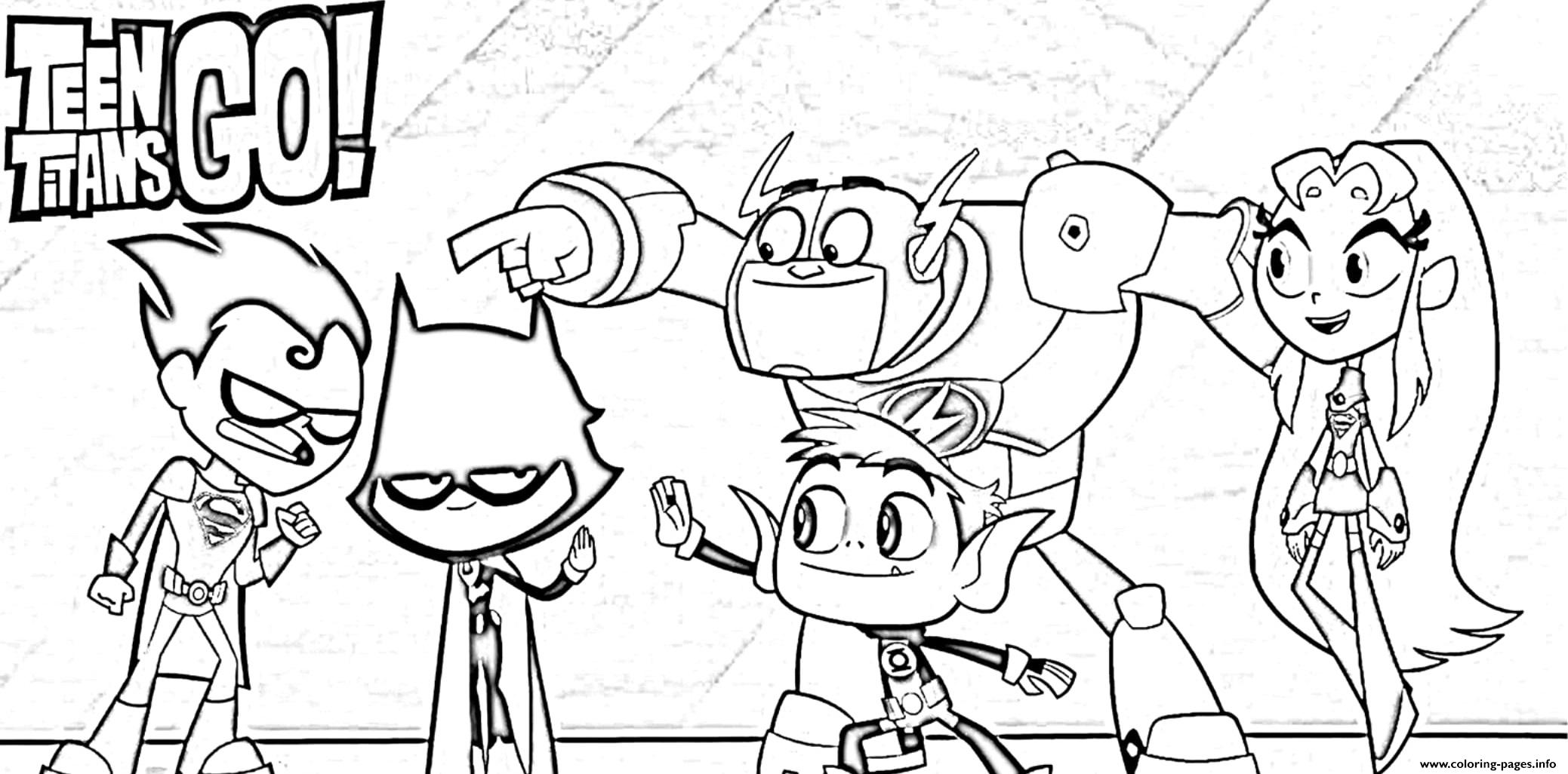 Teen Titan Go Coloring Pages - Coloring Home