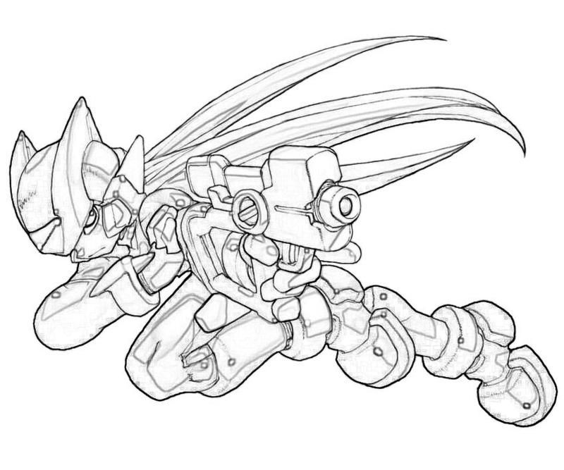 mega man coloring pages free - photo#29