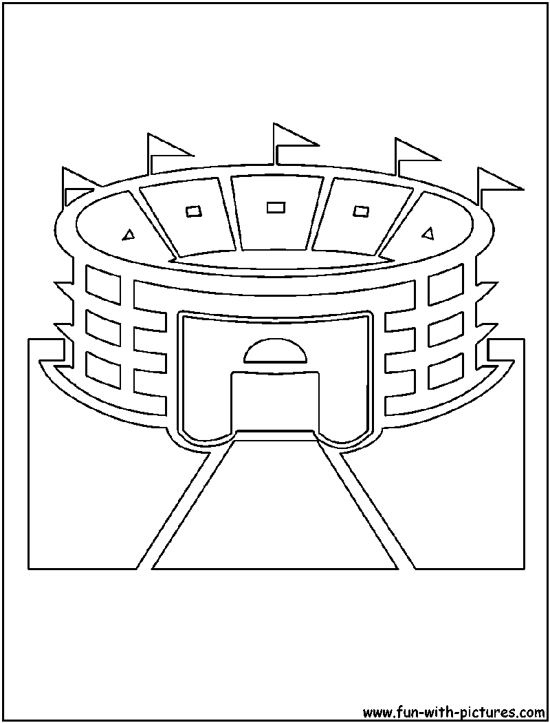 coloring book pages baseball field - photo#25