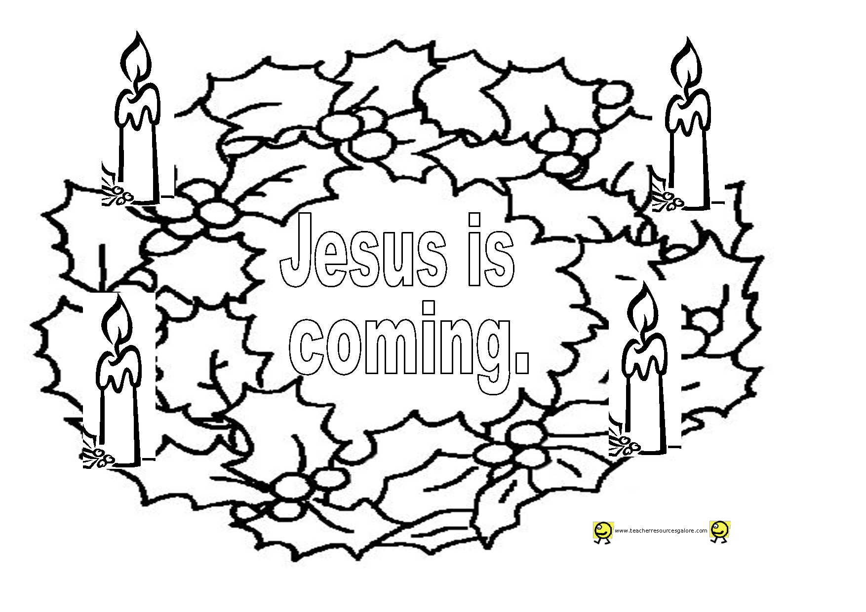 Advent Free Coloring Pages - Coloring Home