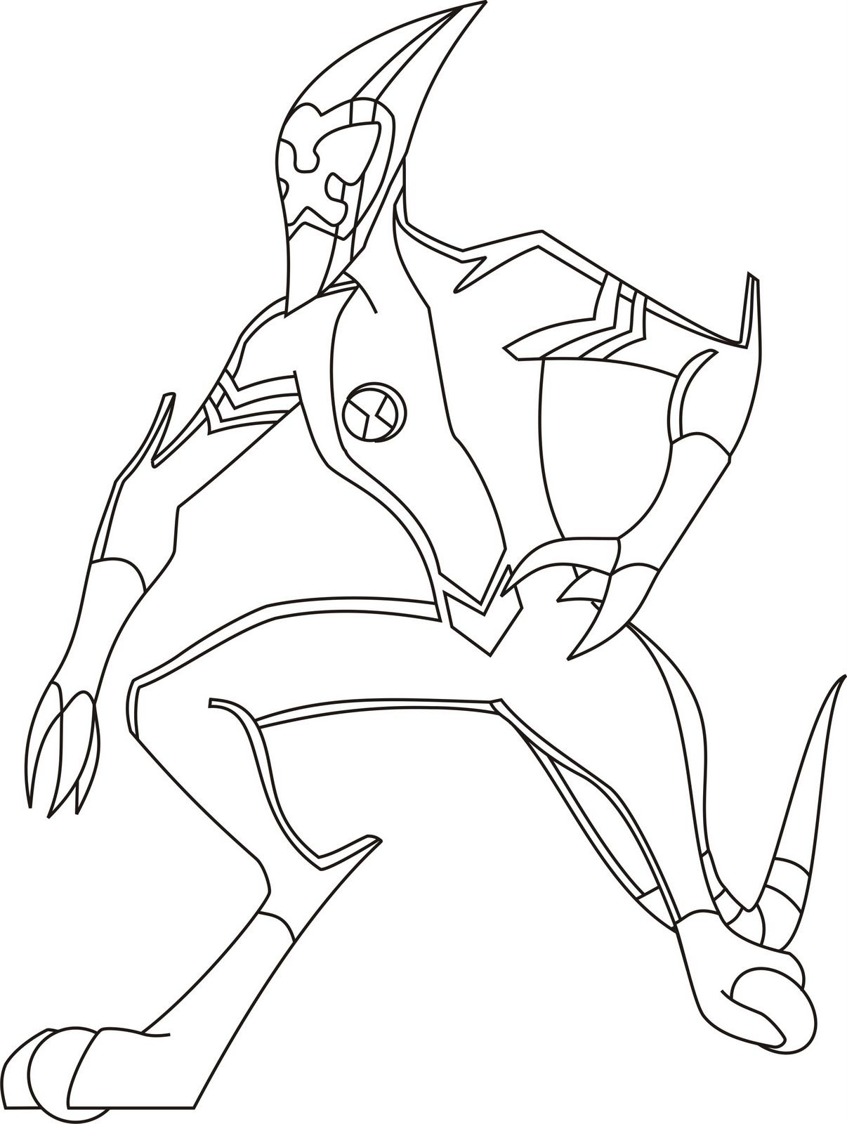 coloring pages of ben 10 aliens ben 10 ultimate alien coloring pages coloring home