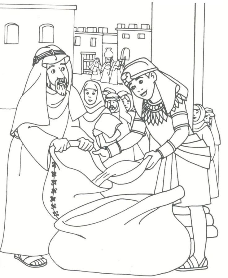 Joseph Sold Into Slavery Coloring Pages Google Search Coloring Coloring Home