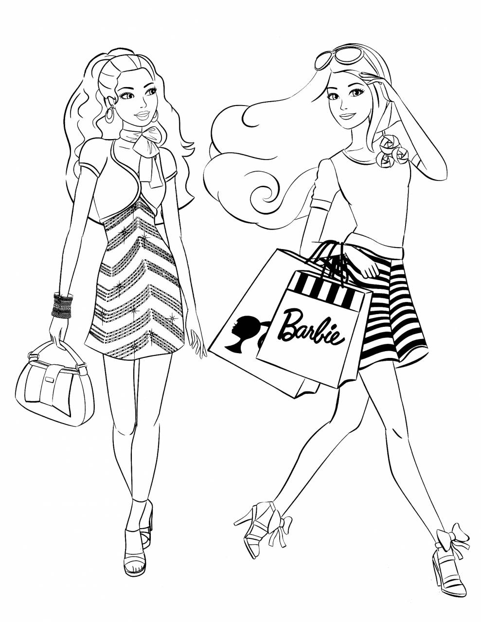 Barbie Coloring Pages Fashion - Coloring Home