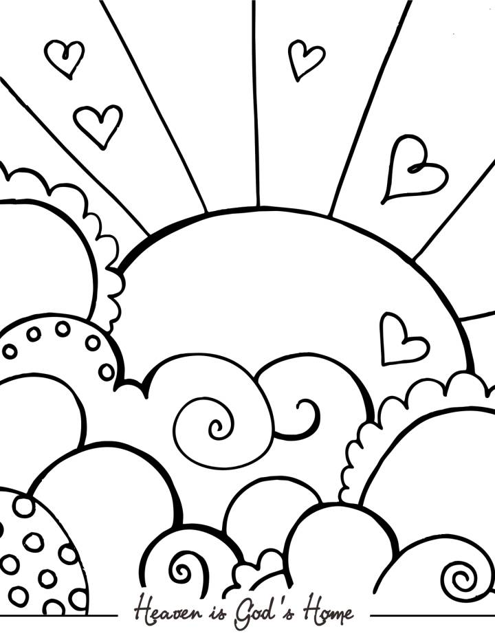 10 Pics Of God In Heaven Coloring Pages