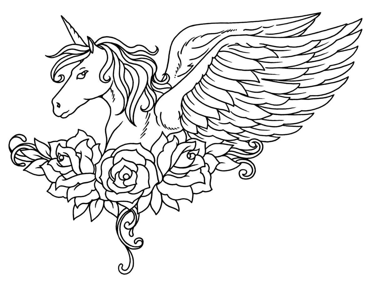 Action Cute Unicorn With Wings Coloring Pages Images best horned horse unicorn kids jumbo workbooks coloring pages awesome pictures design gallery images