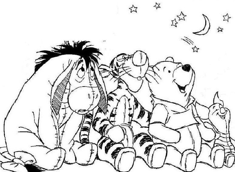 baby winnie the pooh and friends coloring pages az