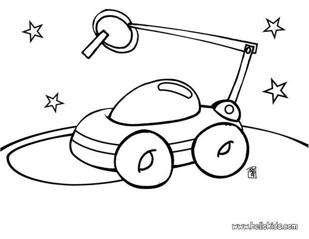 Space Coloring Pages Pdf : Space coloring pages robot home
