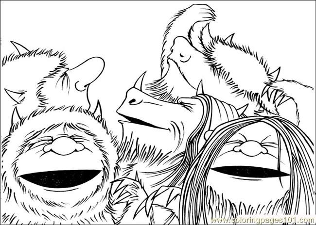 where the wild things are coloring pages  az coloring pages, printable coloring