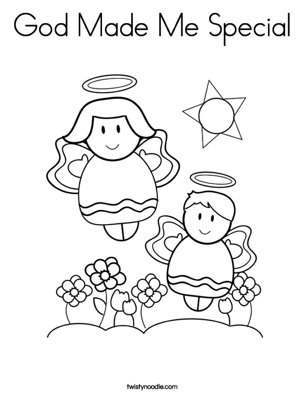 god made coloring pages - photo#10