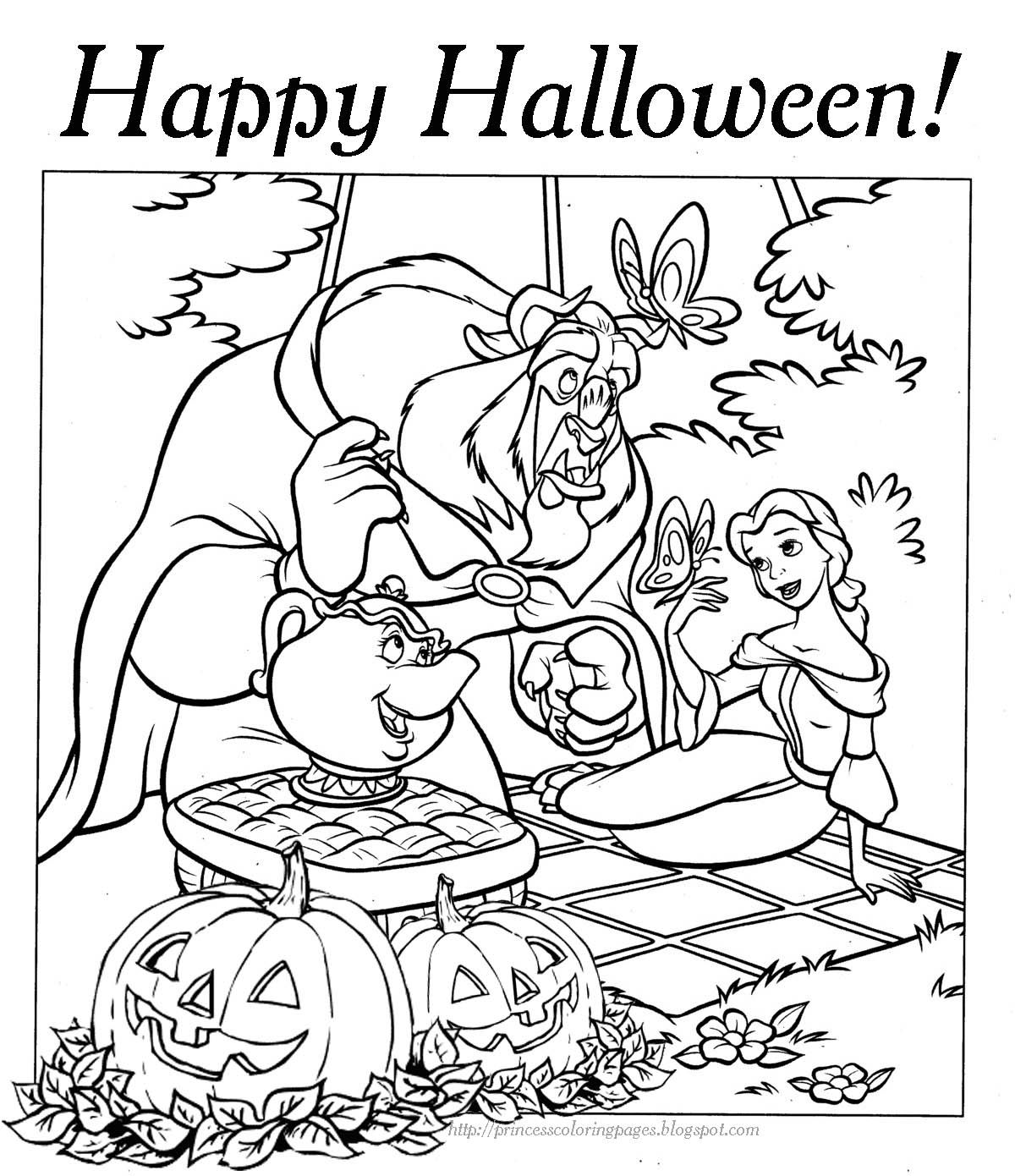 6 Pics Of Disney Halloween Coloring Pages Hard - Free ...