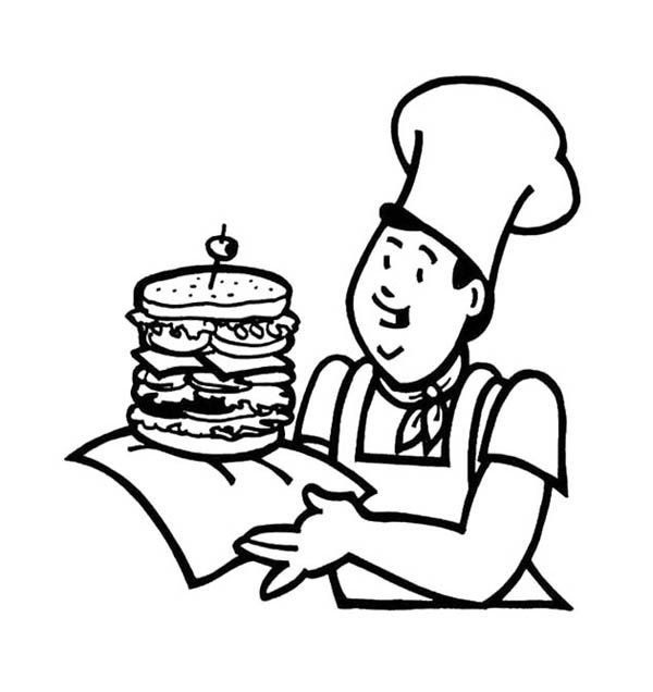 Junk food coloring pages coloring home for Coloring pages of fast food