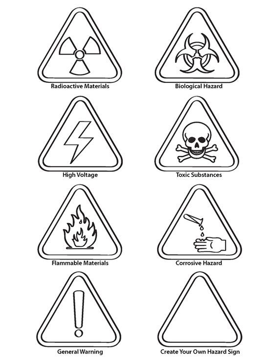 safety signs coloring pages safety signs coloring pages coloring home