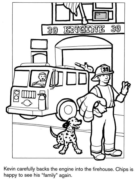 firehouse coloring pages - photo#1