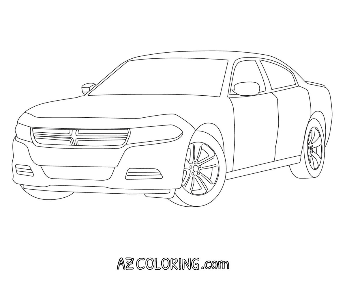 Dodge Charger Coloring Pages Coloring Home