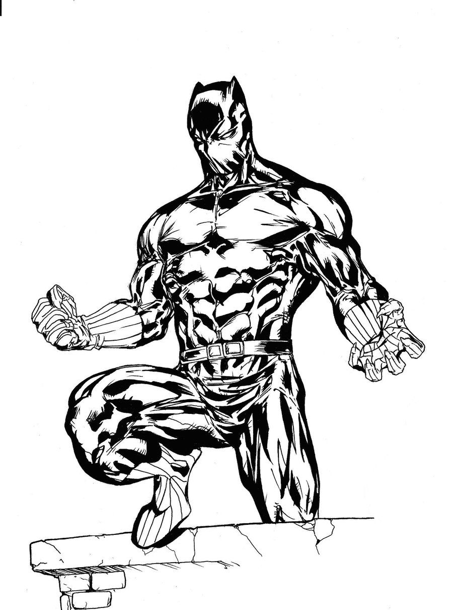 Black Panther Coloring Pages Coloring Home
