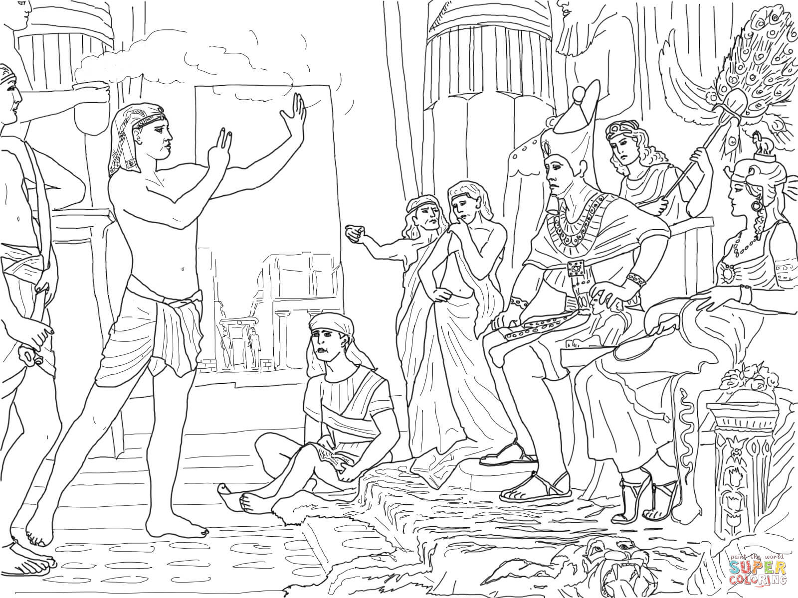 Joseph Interpreting the Pharaoh's Dream coloring page | Free ...