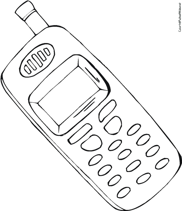 telephone coloring pages - photo#9