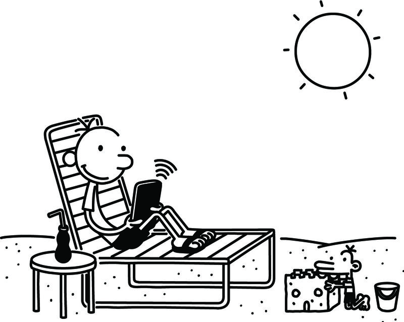 Diary Of A Wimpy Kid Coloring Page - Beach