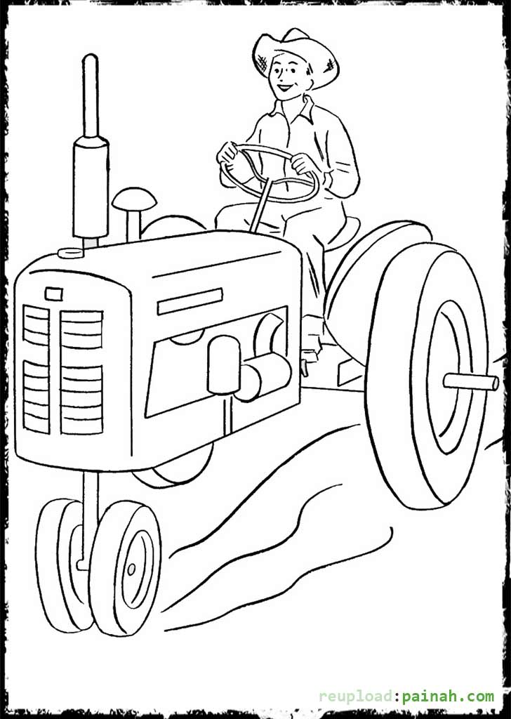 john deere combine printable coloring pages - John Deere Combine Coloring Pages