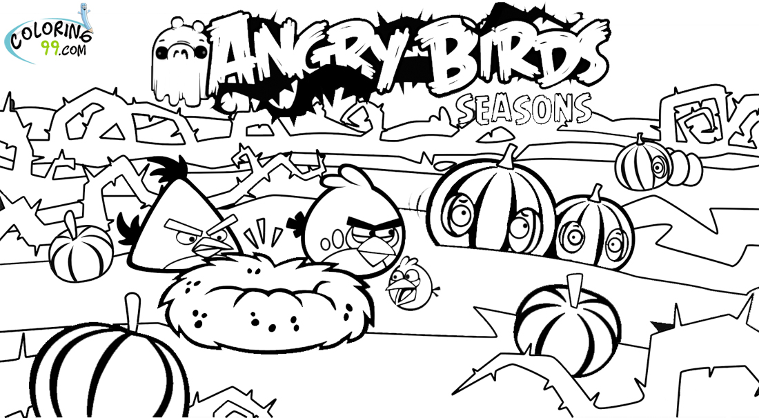 angry birds coloring pages game - photo#10
