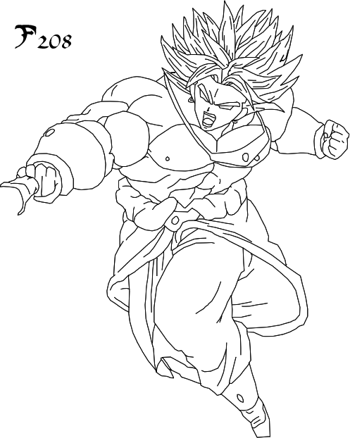 Broly Coloring Page  Coloring Home