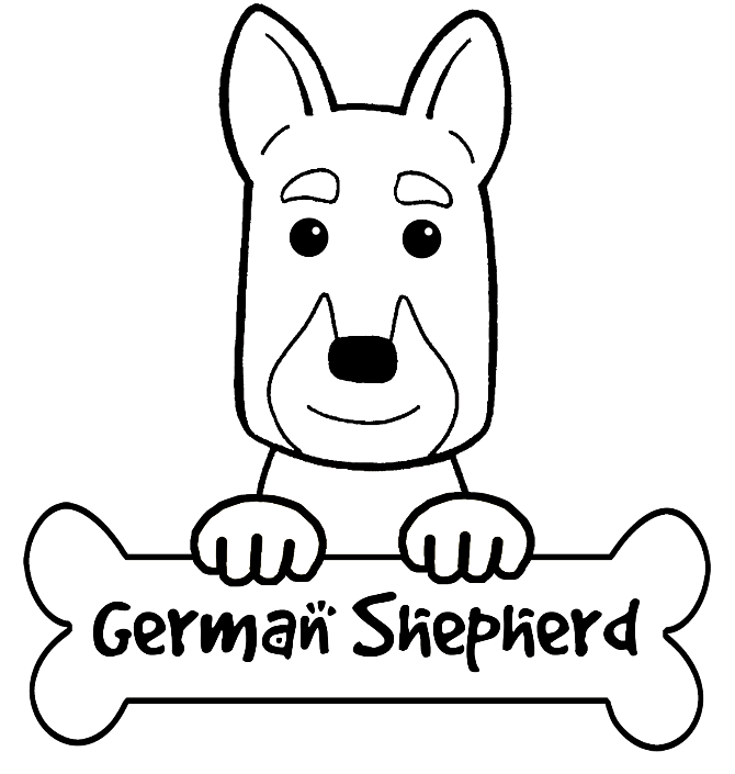 German Shepherd Coloring Page - Coloring Home