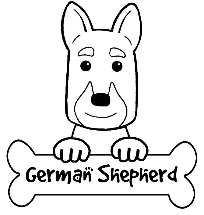 German Shepherd Coloring Pages - AZ Coloring Pages