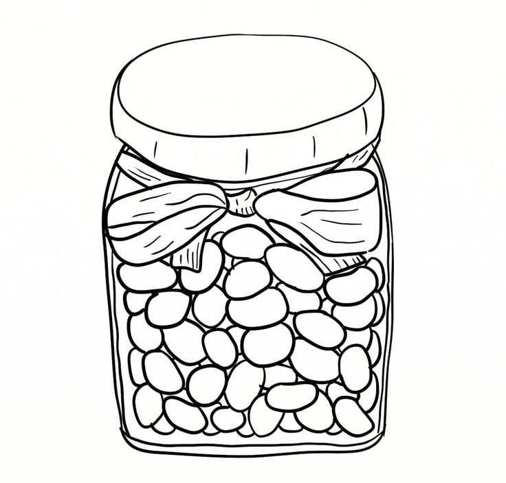 Jelly Bean Pictures To Color - Coloring Pages for Kids and for Adults