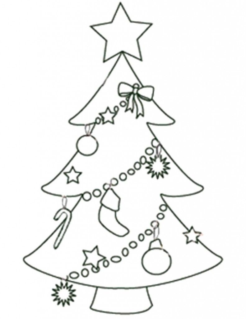 Christmas Tree Printable Template Coloring Home