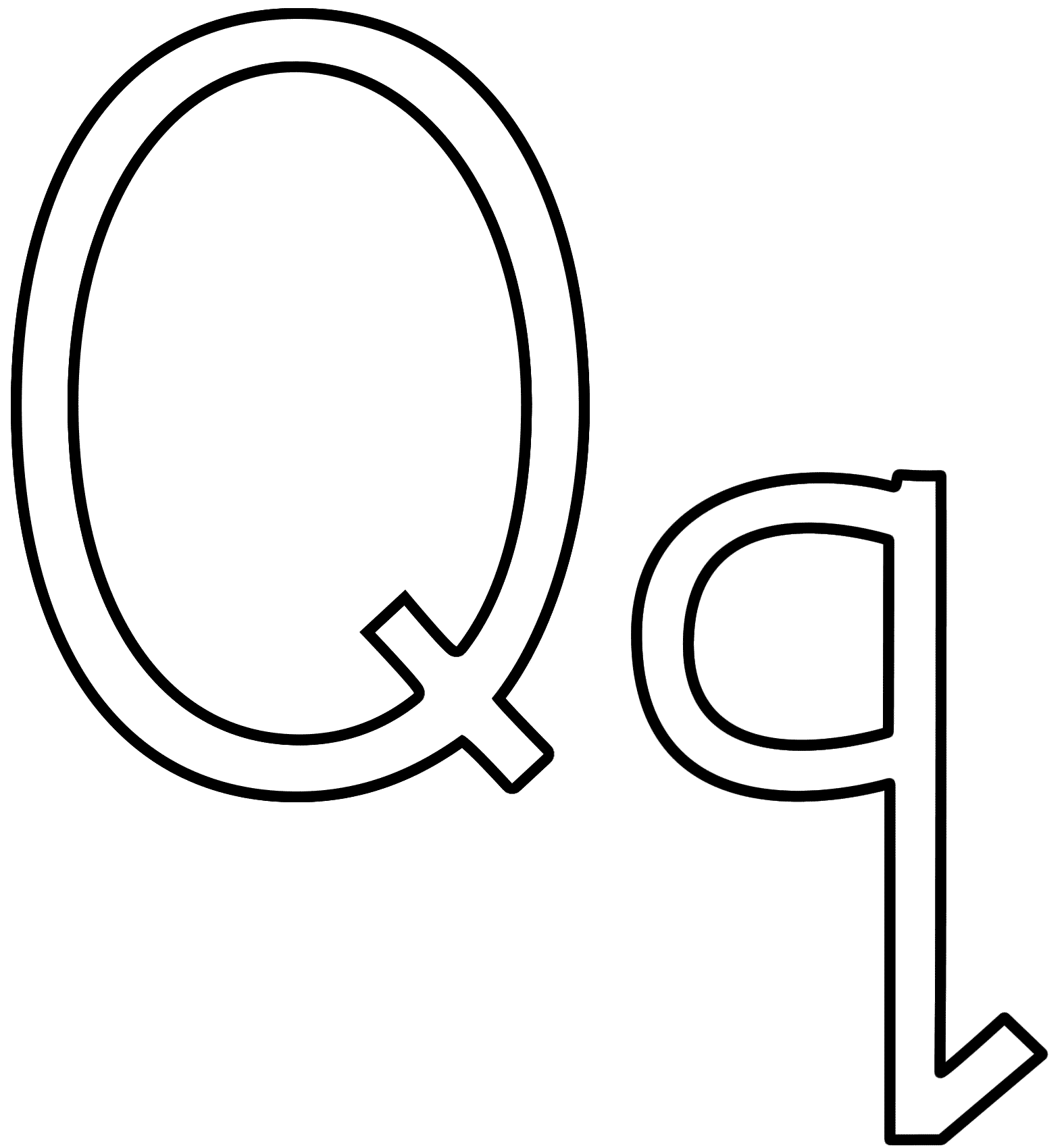 Letter Q Coloring Page Alphabet Coloring Home