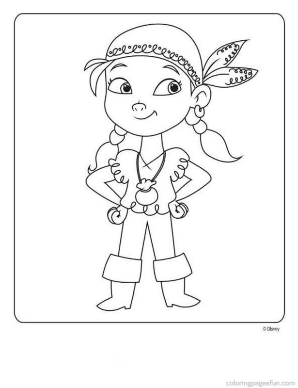 Jake And The Neverland Pirates Free Printable Coloring Jake And The Neverland Coloring Pages Printable