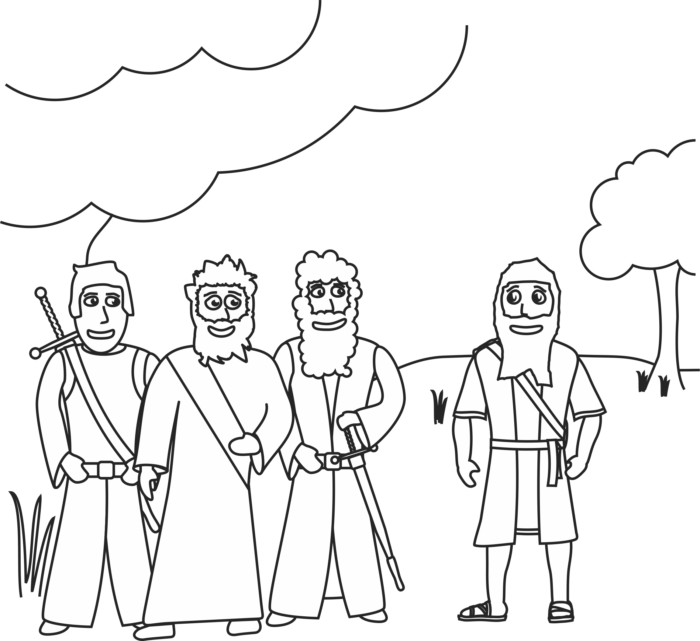 zechariah visions coloring pages - photo#8