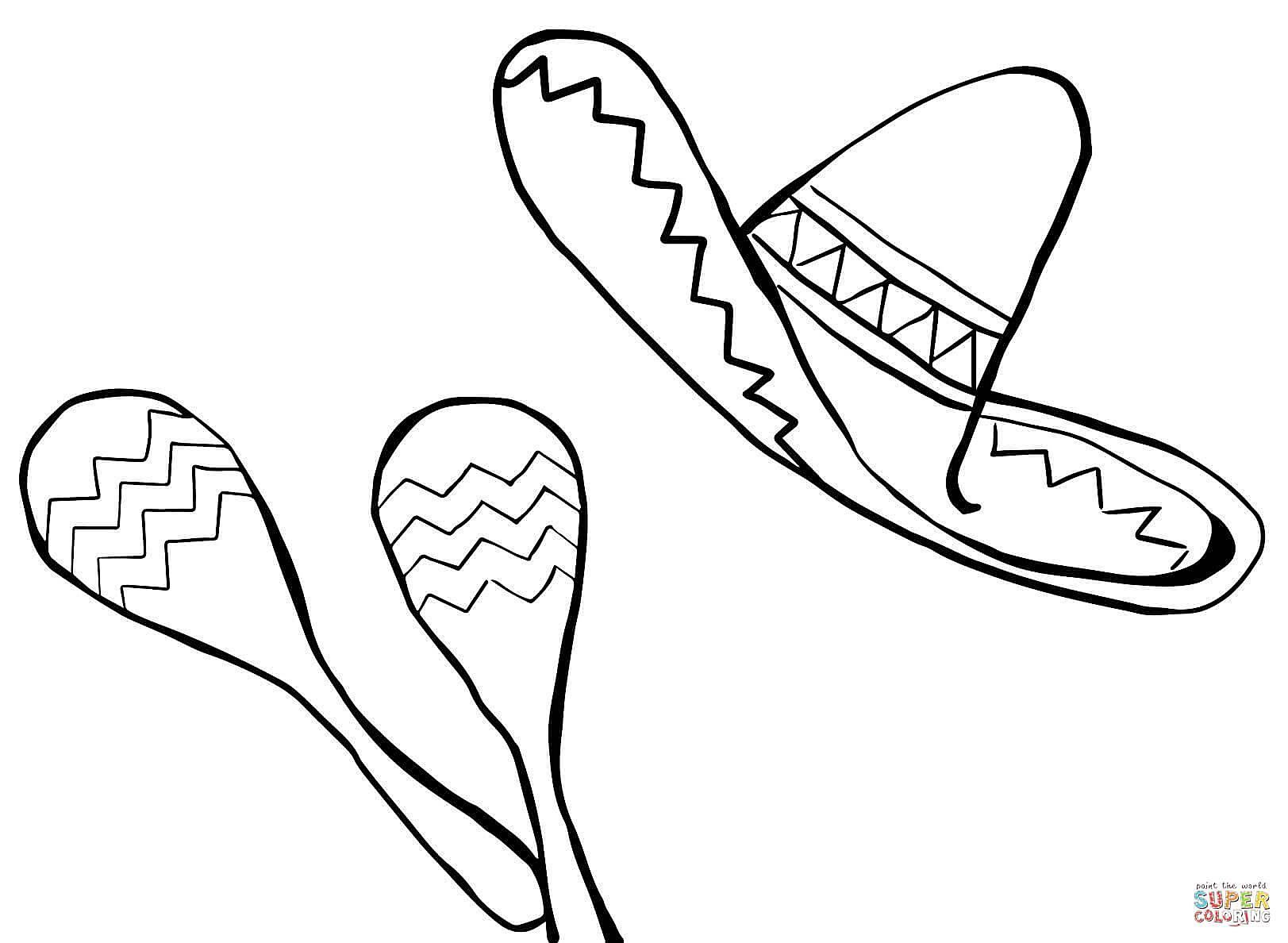 mexican hat coloring page coloring home