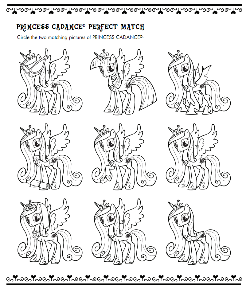 My Little Pony Coloring Pages Princess Cadence Wedding ...
