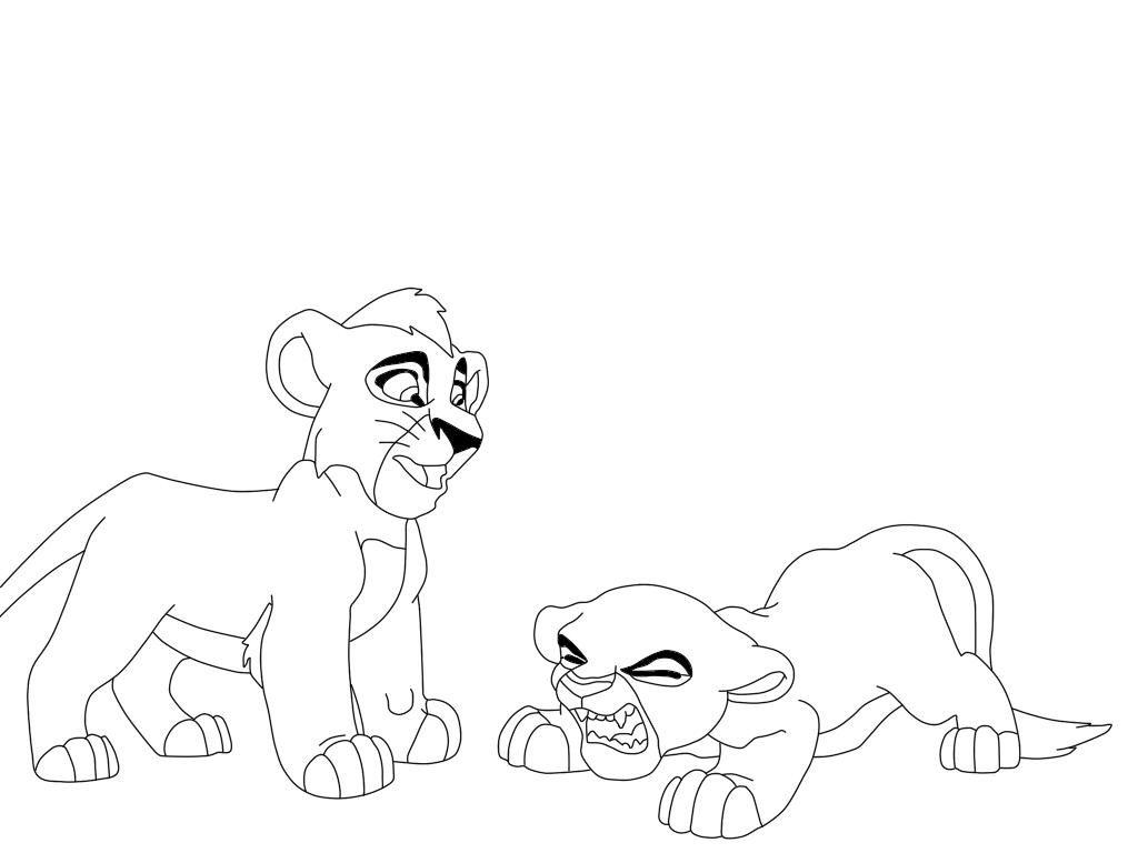 Ausmalbilder König Der Löwen: Lion King Holding Up Simba Coloring Page