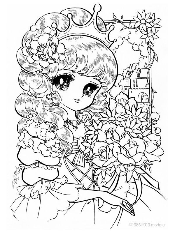 Flower Princess Coloring Pages - Coloring Home