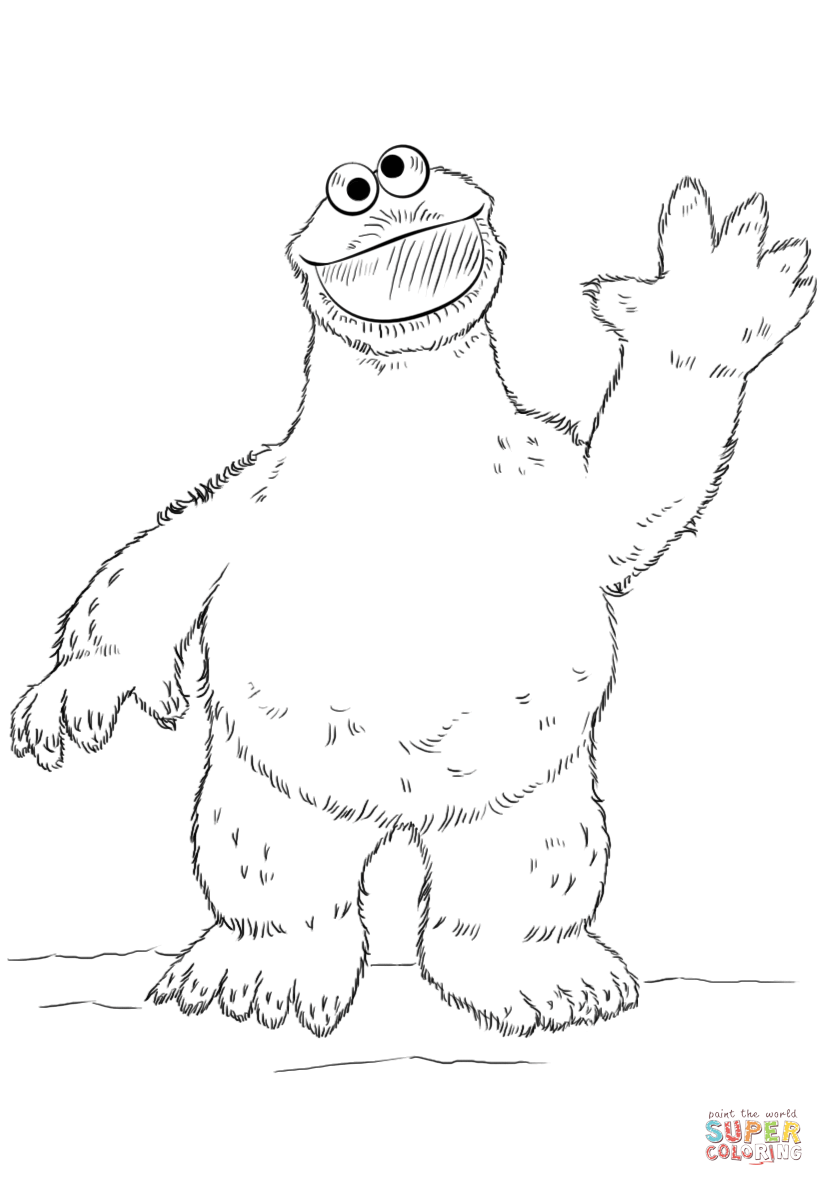 Cookie Monster coloring page | Free Printable Coloring Pages