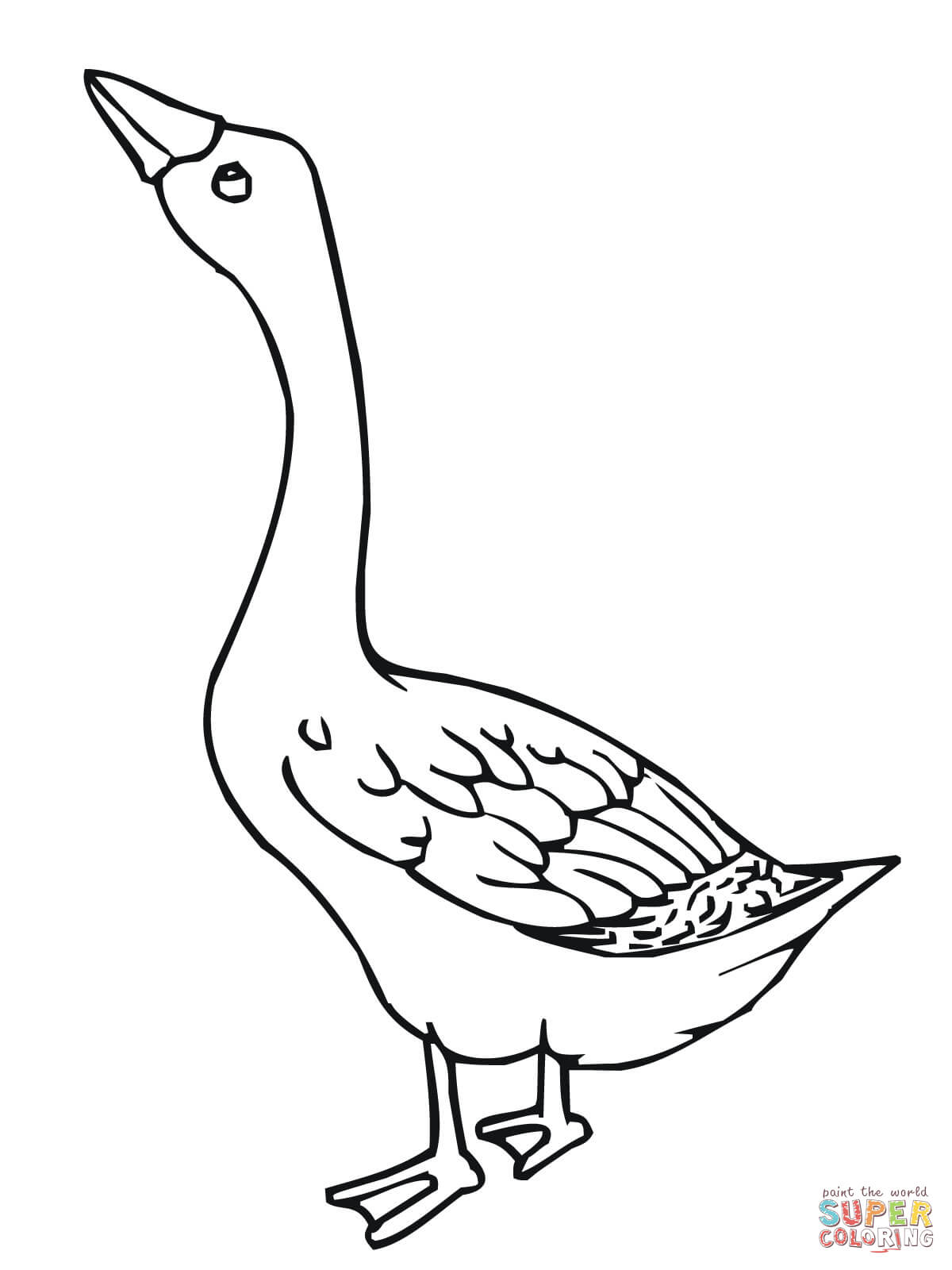 geese coloring pages for kids - photo#9