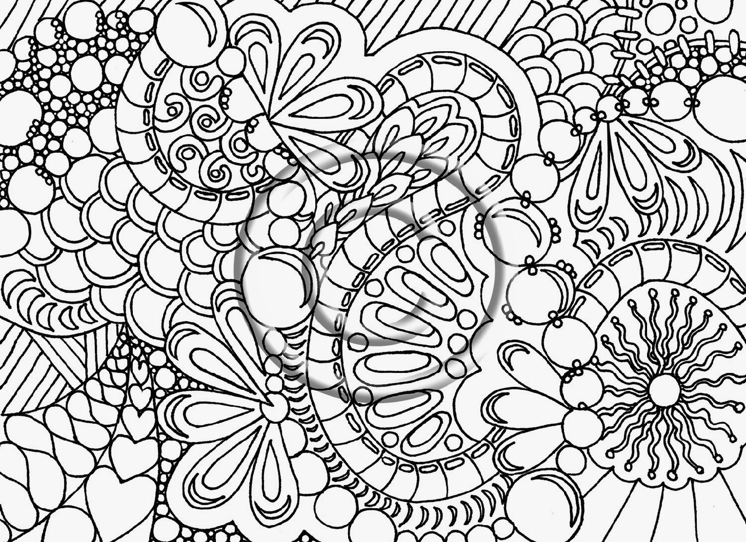 Free printable coloring pages for grown ups - Grown Up Coloring Pages Hearts