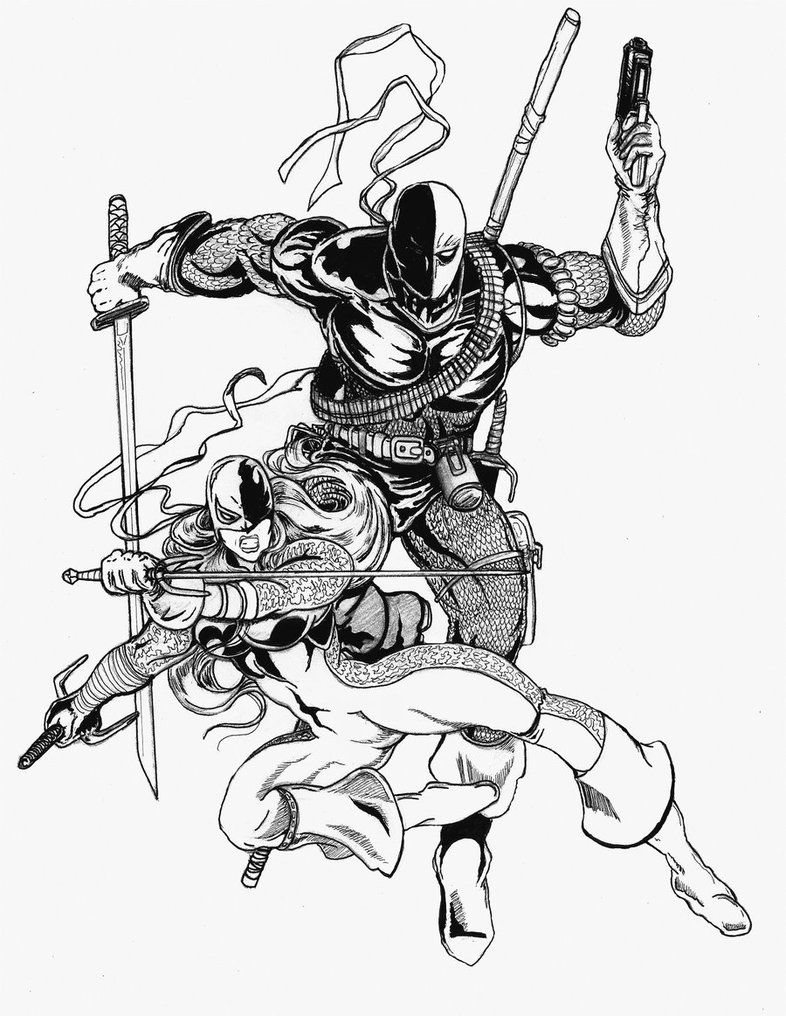 Deathstroke coloring pages coloring home for Deathstroke coloring pages