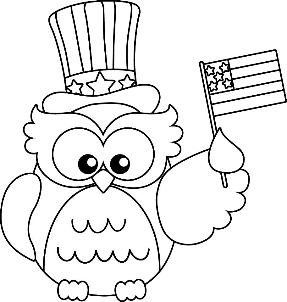 Free coloring page for memorial day