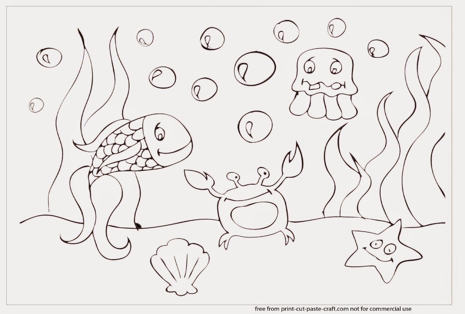 Coloring pages for under the sea - Under The Sea Color Pages