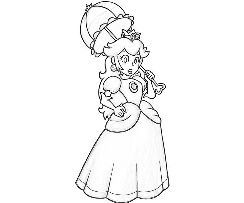 mario bros peach coloring pages coloring home