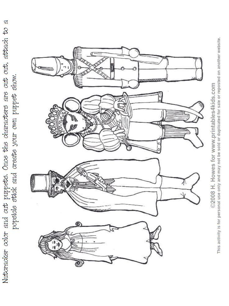 nutcracker suite coloring pages free - photo#4