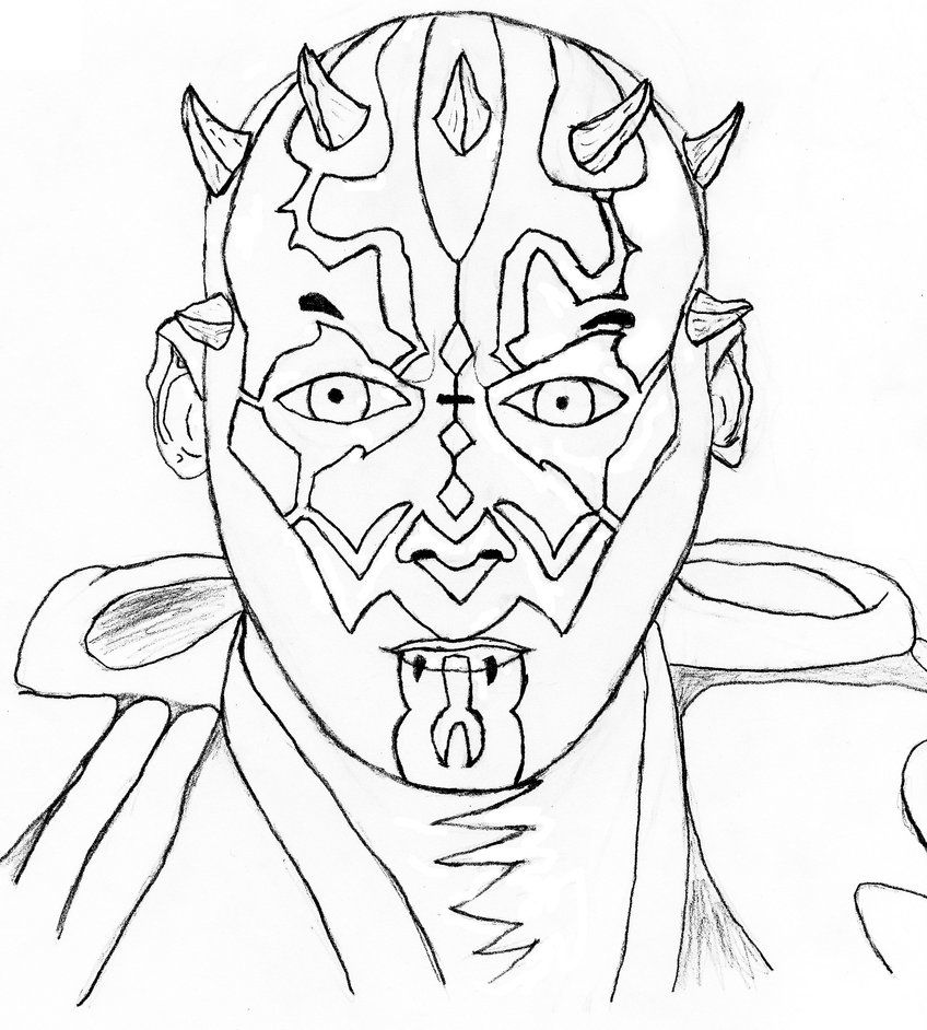 Darth Maul Coloring Page Coloring