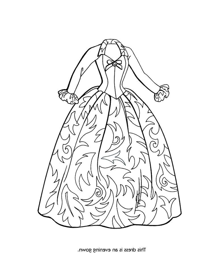 coloring pages of fancy dresses | Coloring Pages Of Fancy Dresses - High Quality Coloring ...
