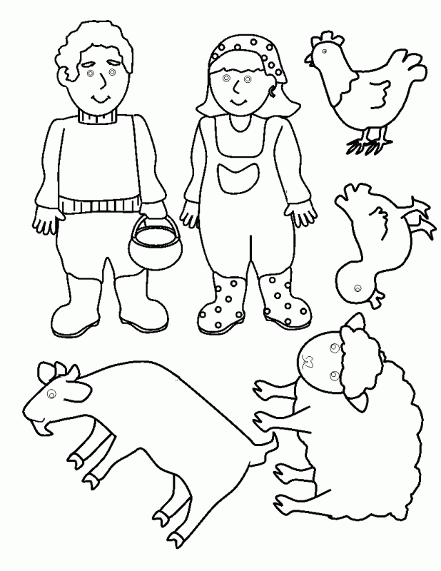 old mcdonald coloring pages - photo#5