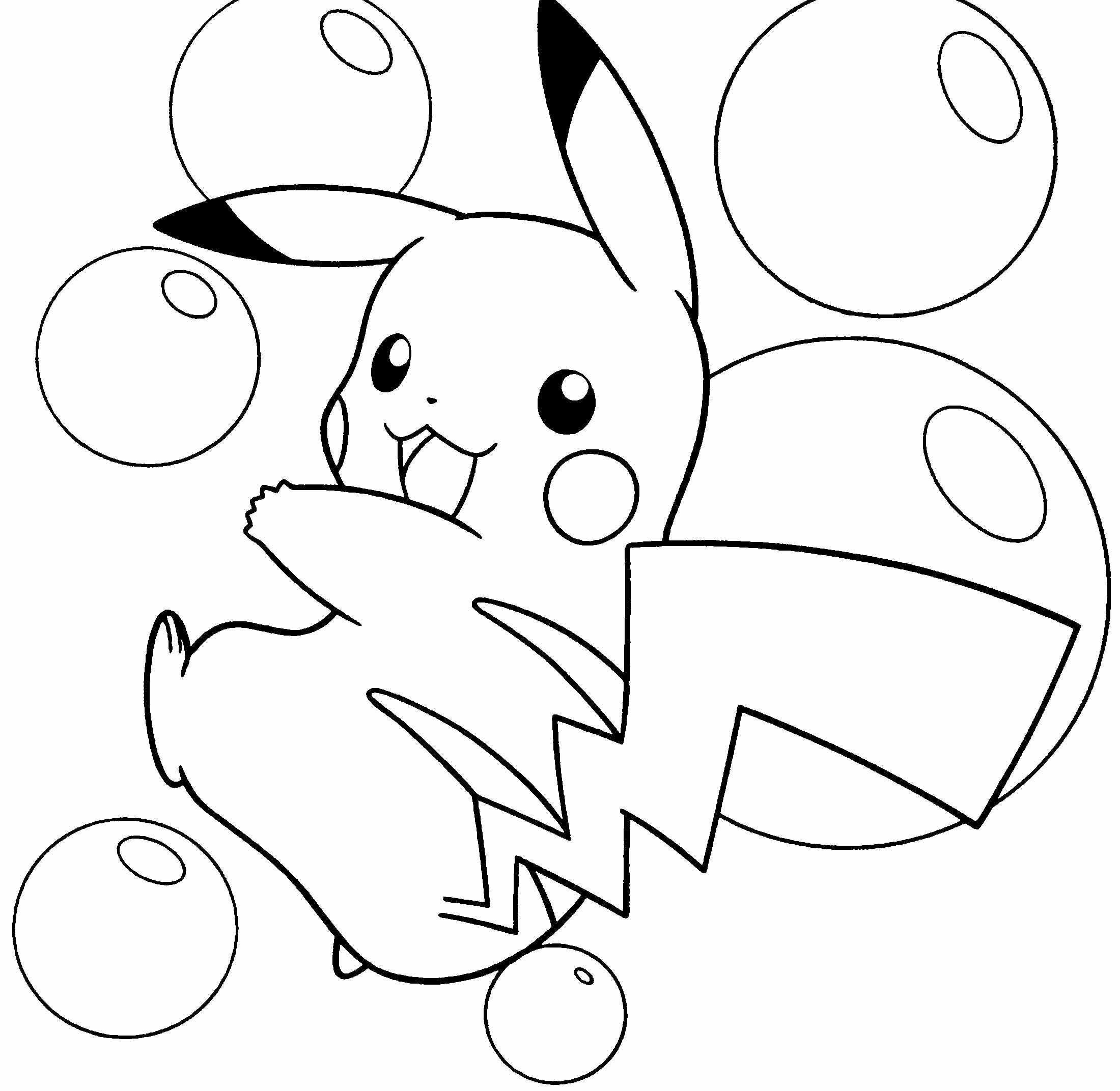 Pickachu Coloring Pages Coloring Home