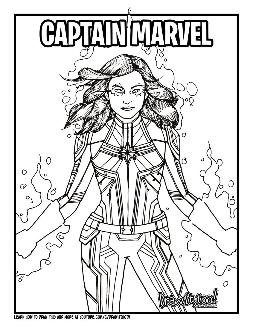 Captain Marvel Coloring Pages - Coloring Home
