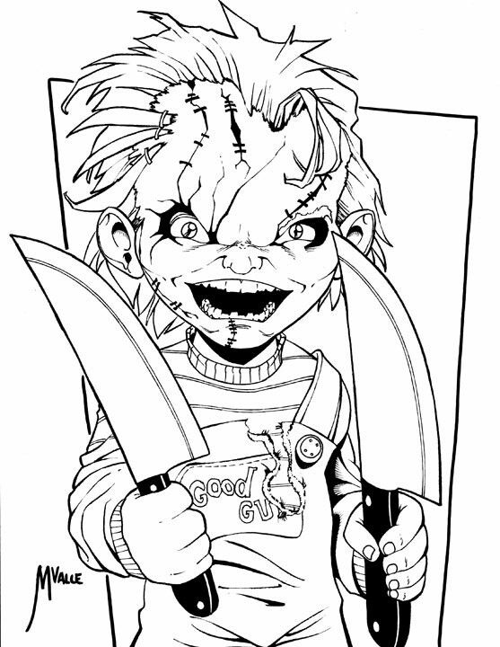 - Chucky Coloring Pages - Coloring Home